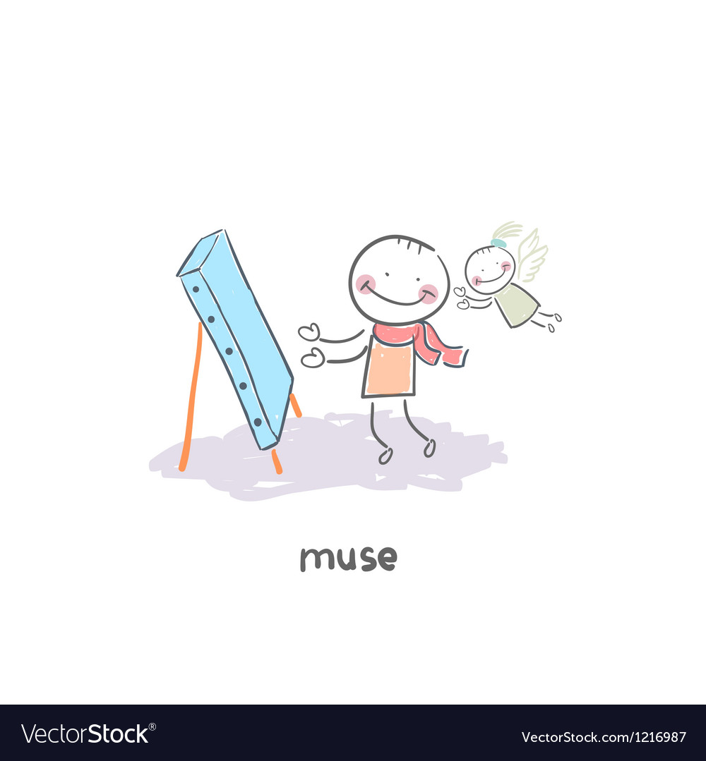 Muse vector image