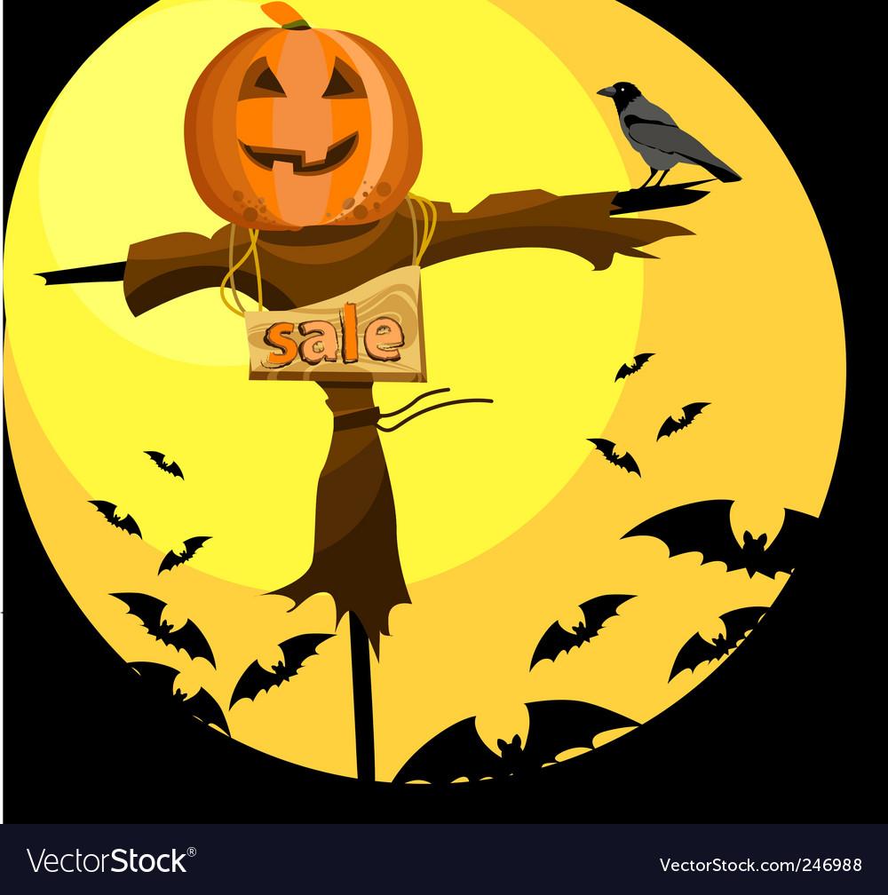 Halloween scarecrow Royalty Free Vector Image - VectorStock