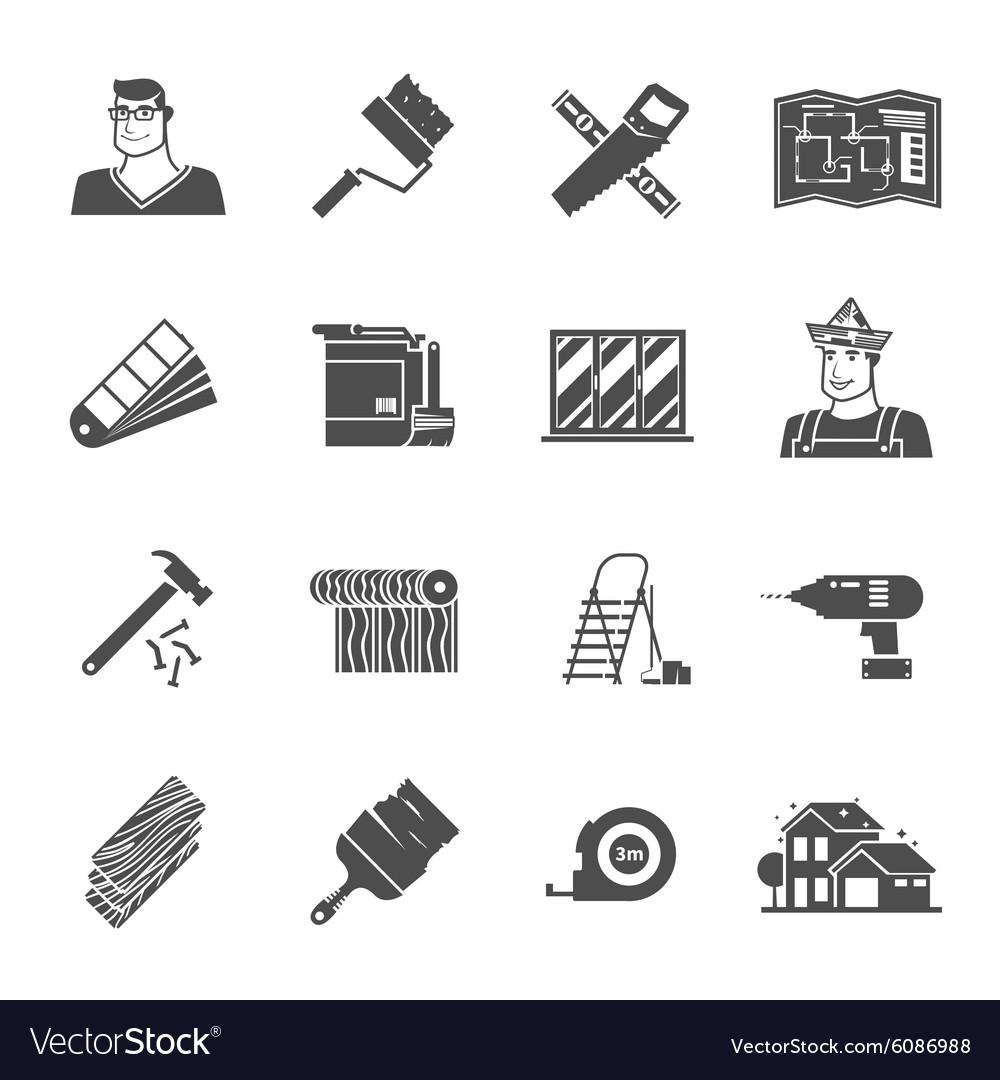 Renovation Icons Set vector image