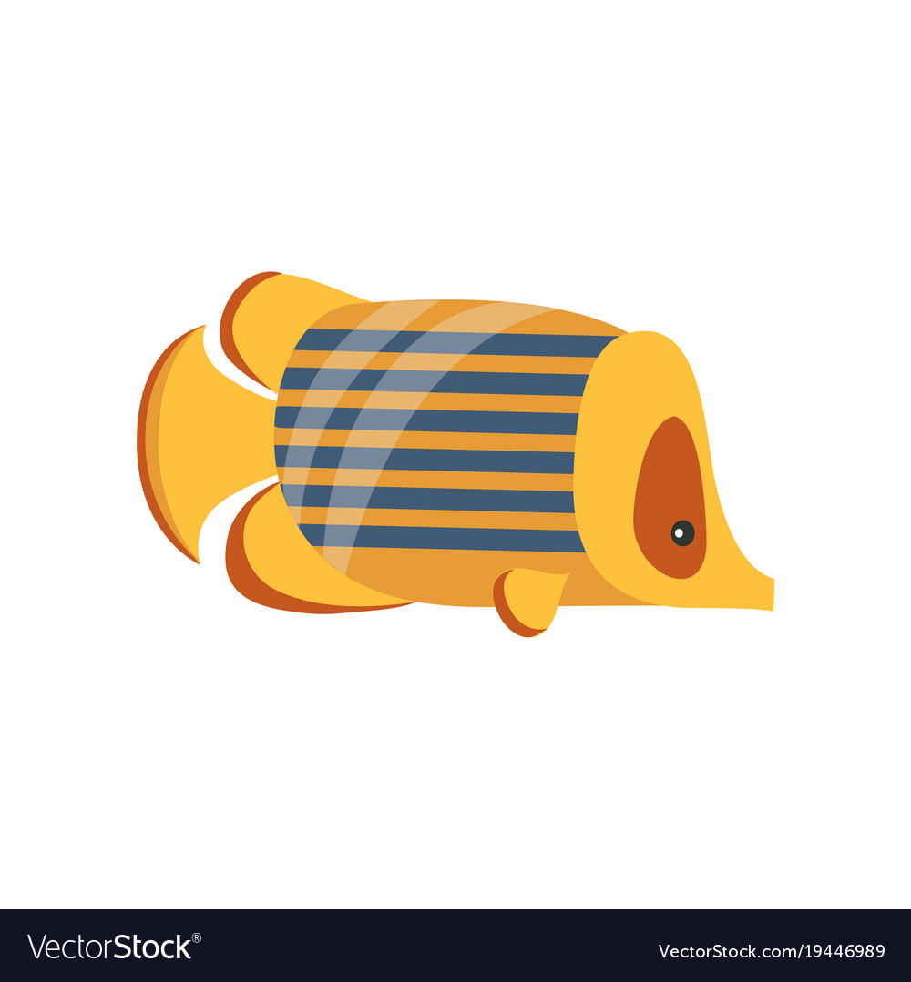 Ancient Golden Fish Symbol Of Traditional Vector Image