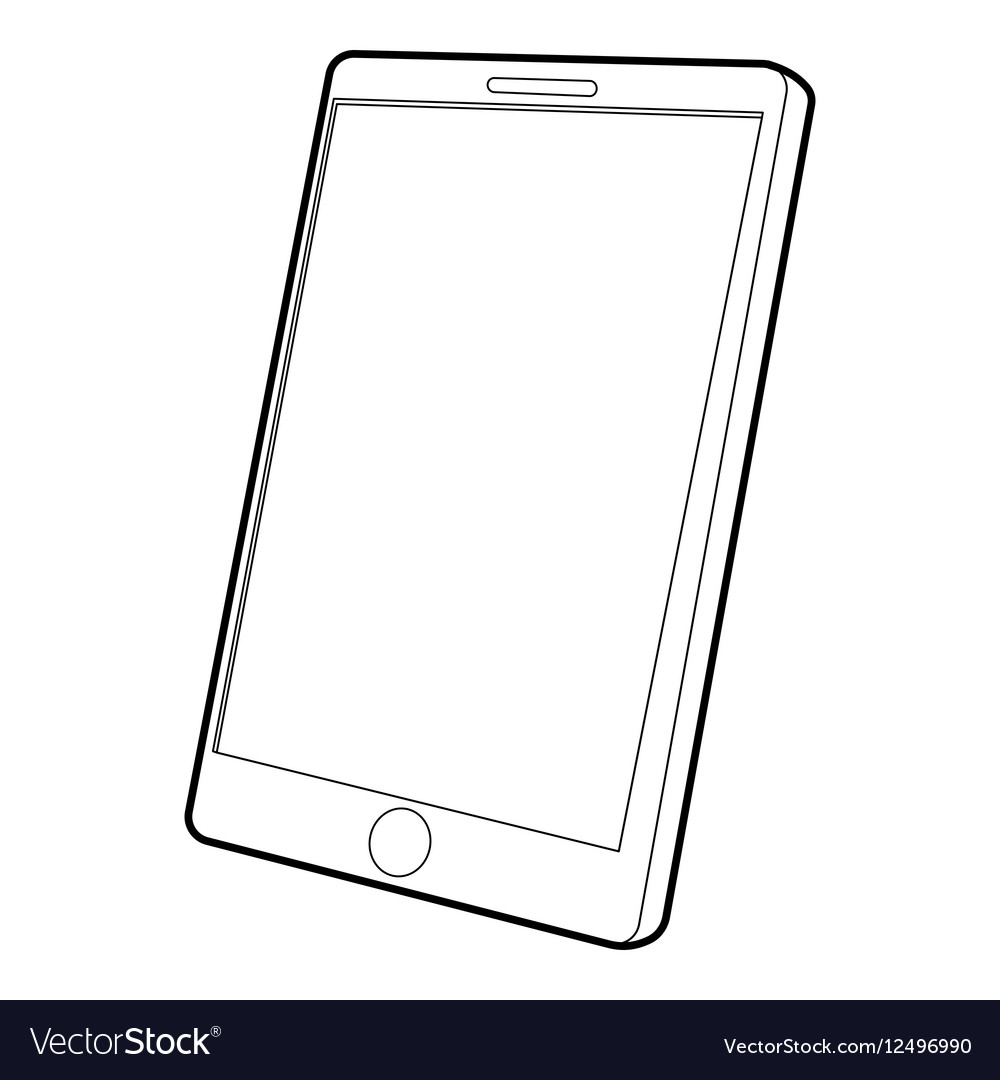 Tablet computer icon isometric 3d style vector image