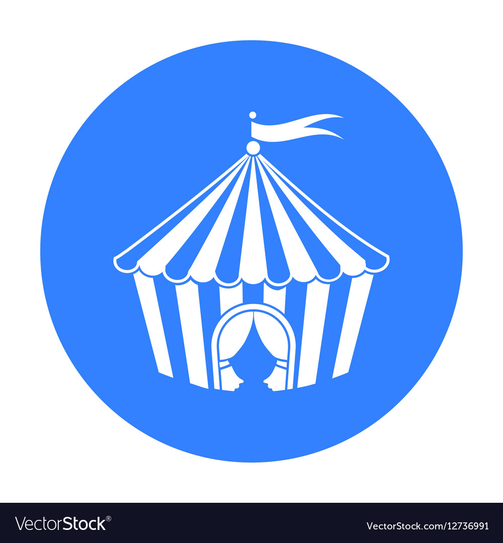 Circus tent icon in black style isolated on white vector image  sc 1 st  VectorStock & Circus tent icon in black style isolated on white Vector Image
