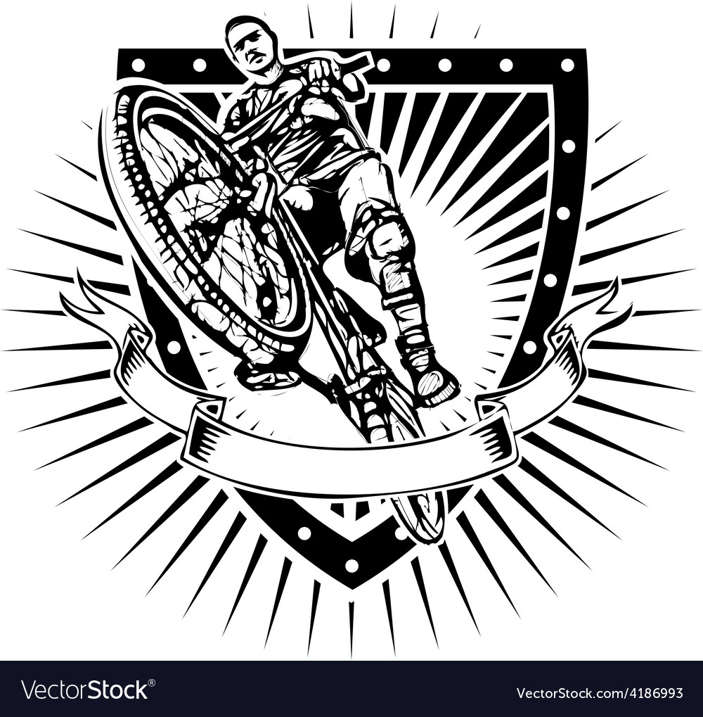 Bike shield vector image