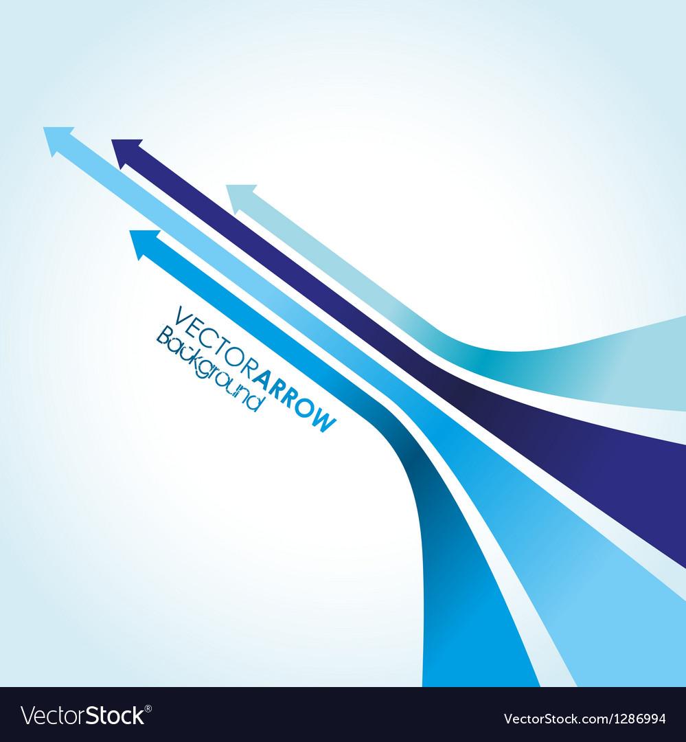 Blue arrow strips vector image