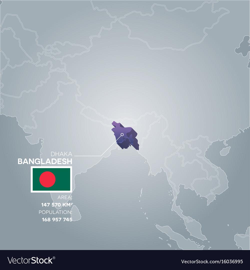 Bangladesh information map vector image