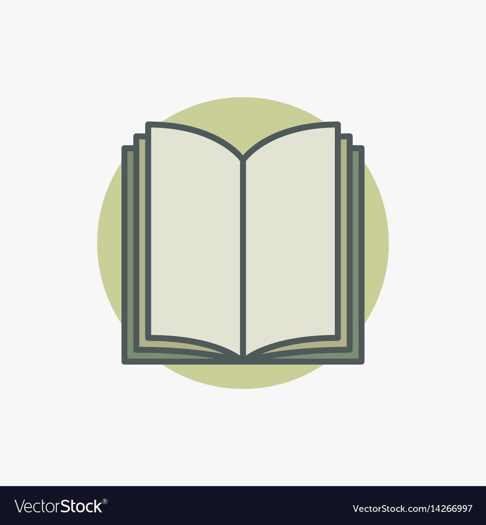 Open book colored icon vector image