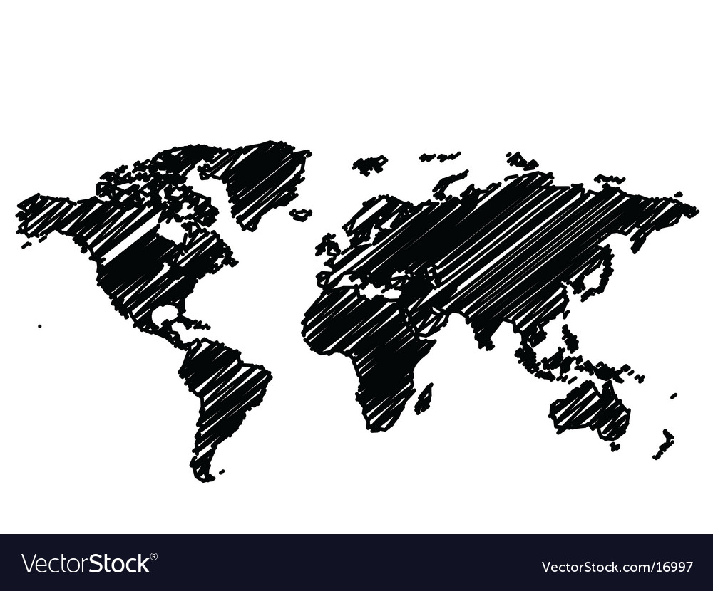 World map graphic royalty free vector image vectorstock world map graphic vector image gumiabroncs