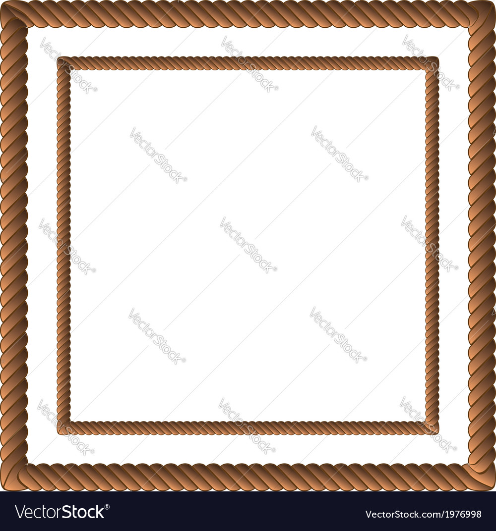 Brown rope in two sizes vector image