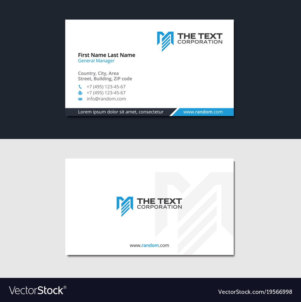 Multipurpose business card with letter m vector image colourmoves Images
