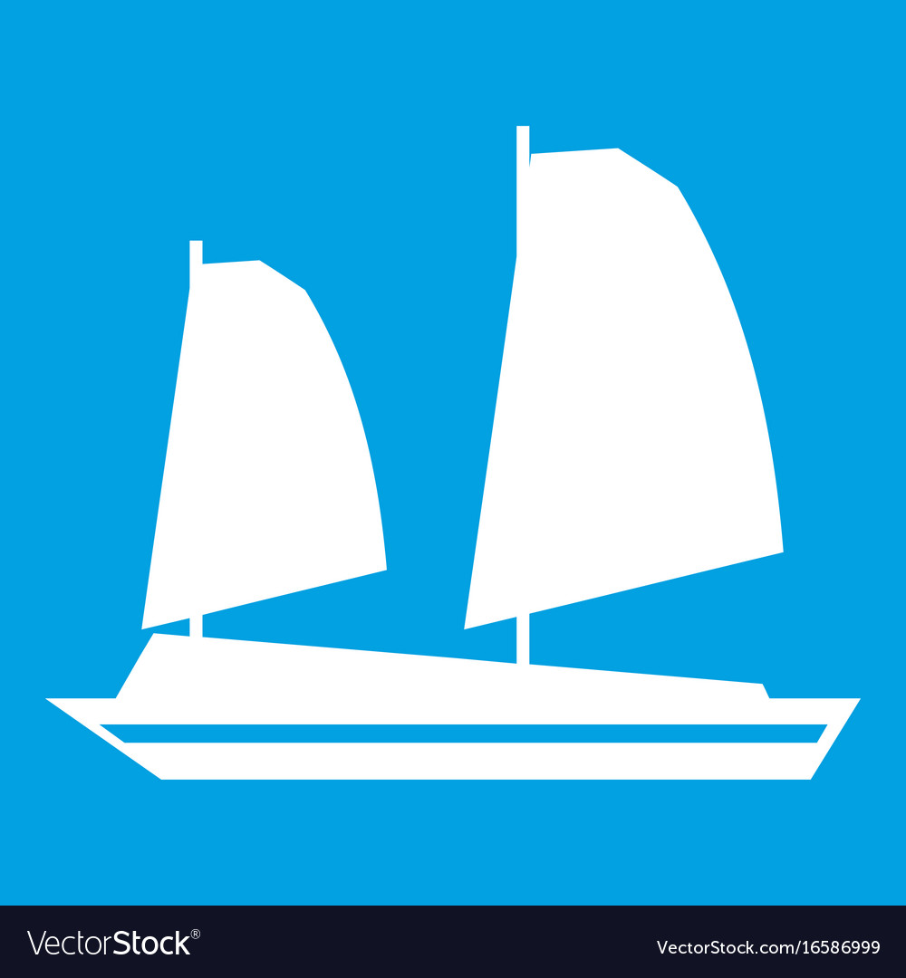 Vietnamese junk boat icon white vector image