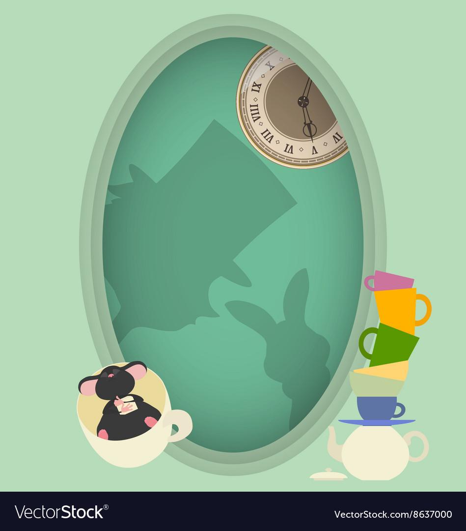 Alice in Wonderland Mad tea party vector image