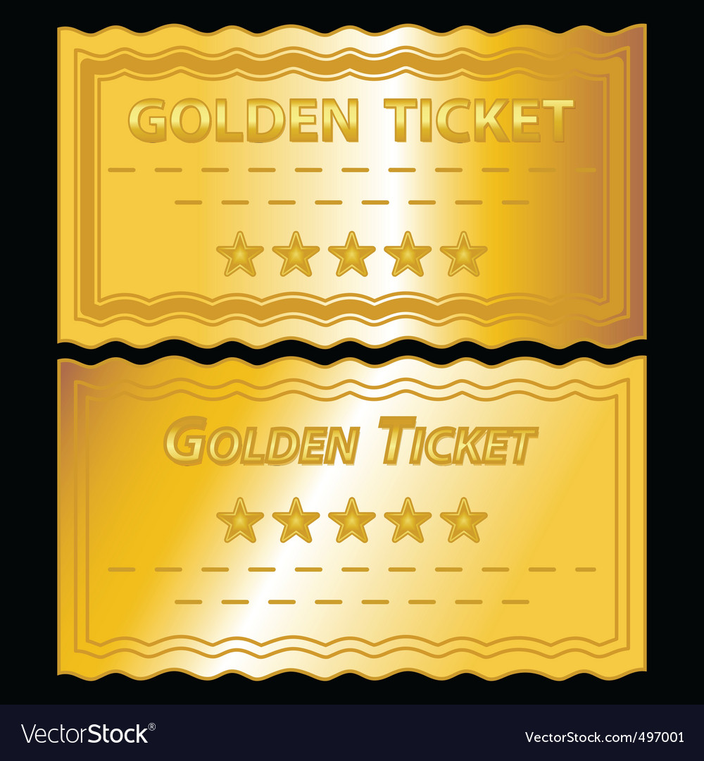 Golden tickets royalty free vector image vectorstock golden tickets vector image pronofoot35fo Images