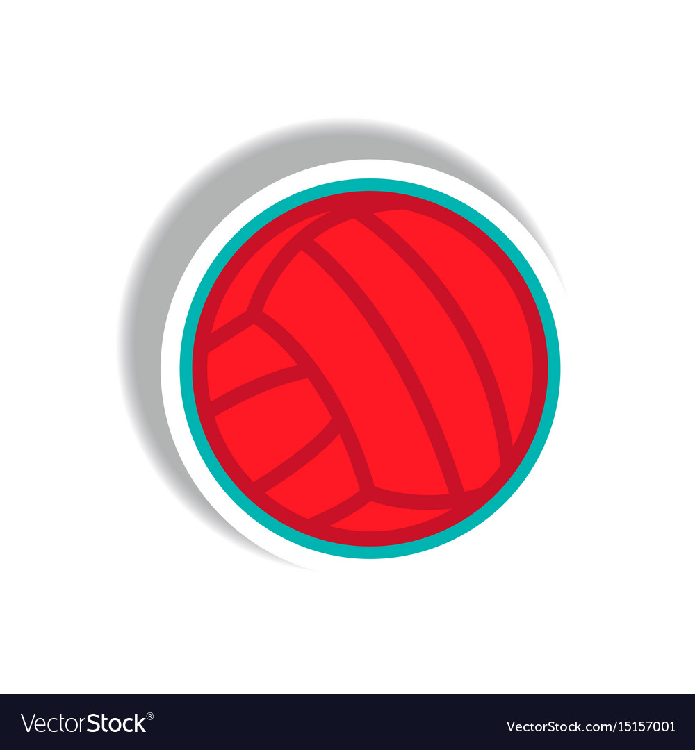 ball for playing volleyball icon flat style