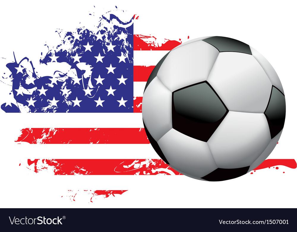 United States Soccer Grunge vector image