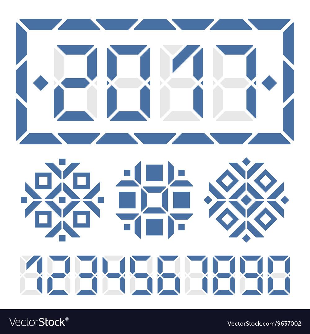 Happy new year 2017 digital card vector image