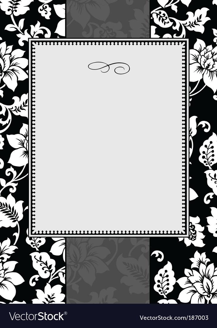 Ornate floral frame vector image