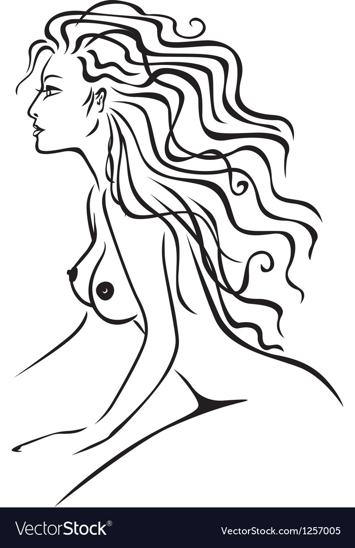Nude lady vector image