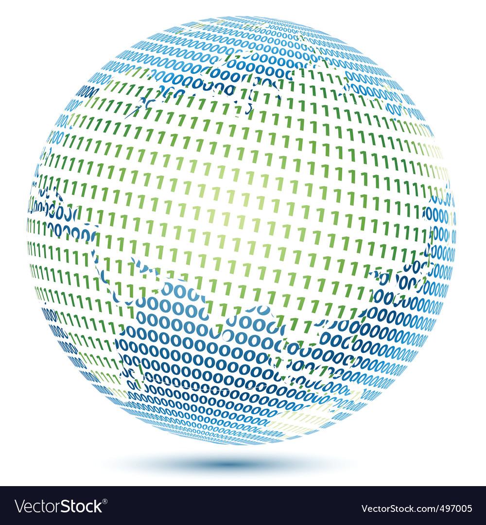 Technical world vector image