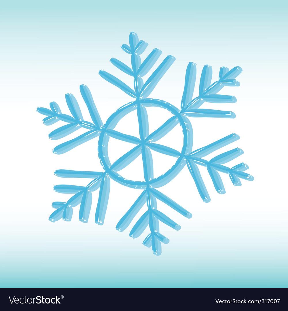 Grange snowflake vector image