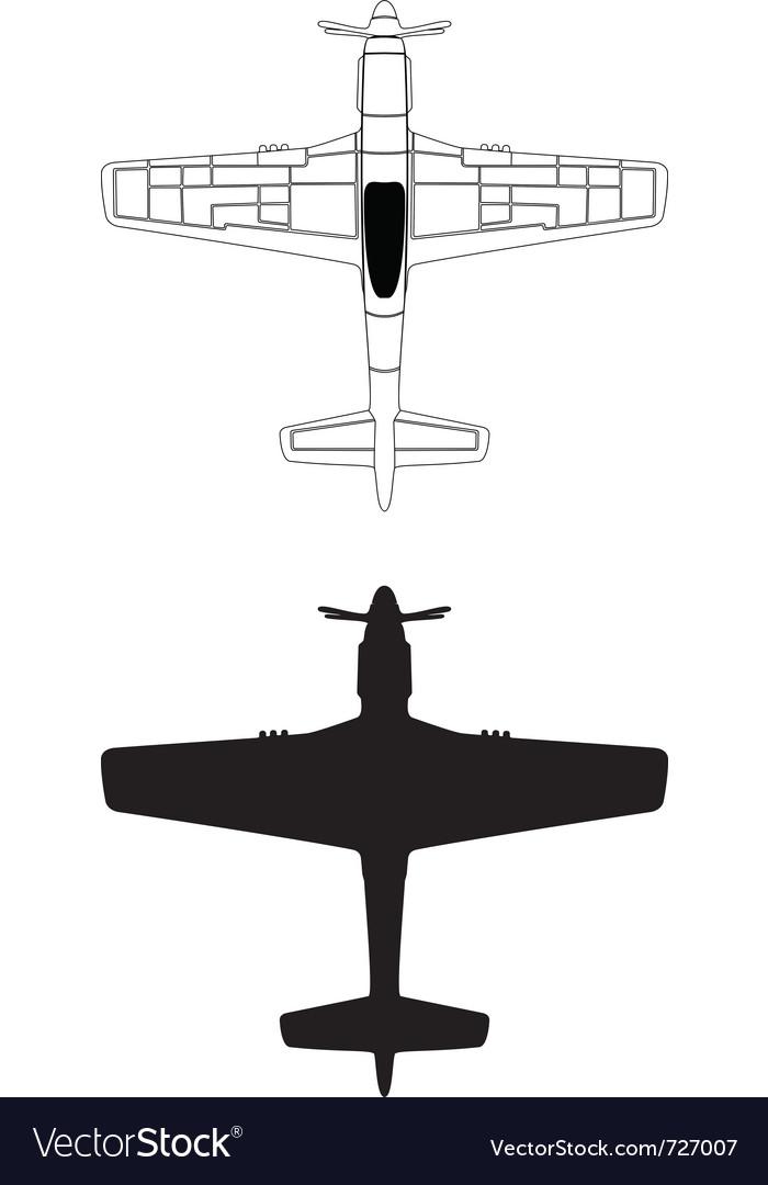 P-51 mustang vector image