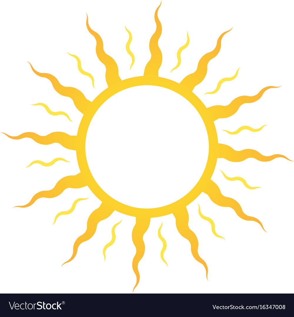 Icon or logo sun for sun deck or cosmetics for vector image