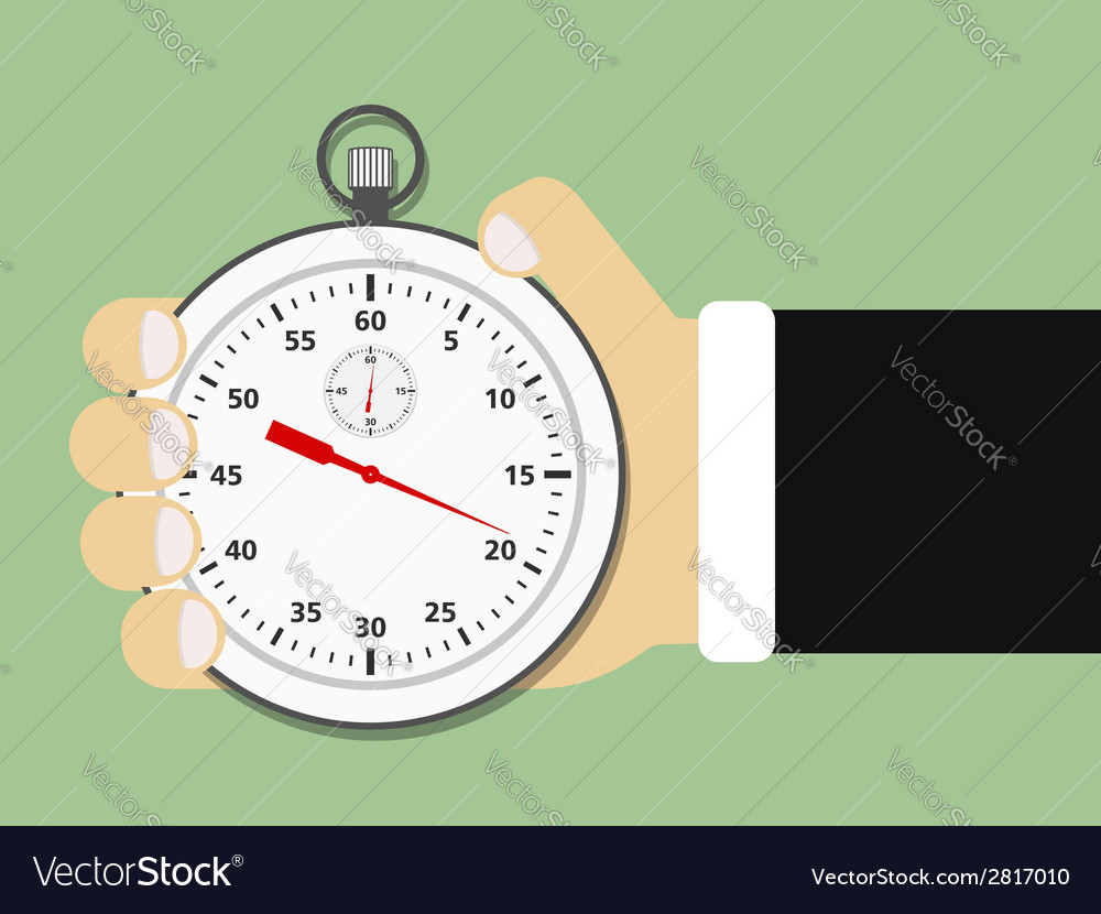 Hand Holding Stopwatch vector image