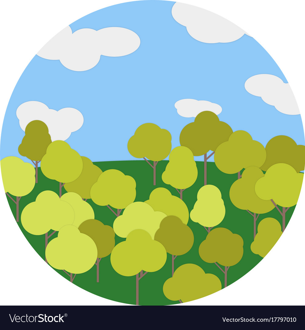 The autumn landscape tree sky vector image