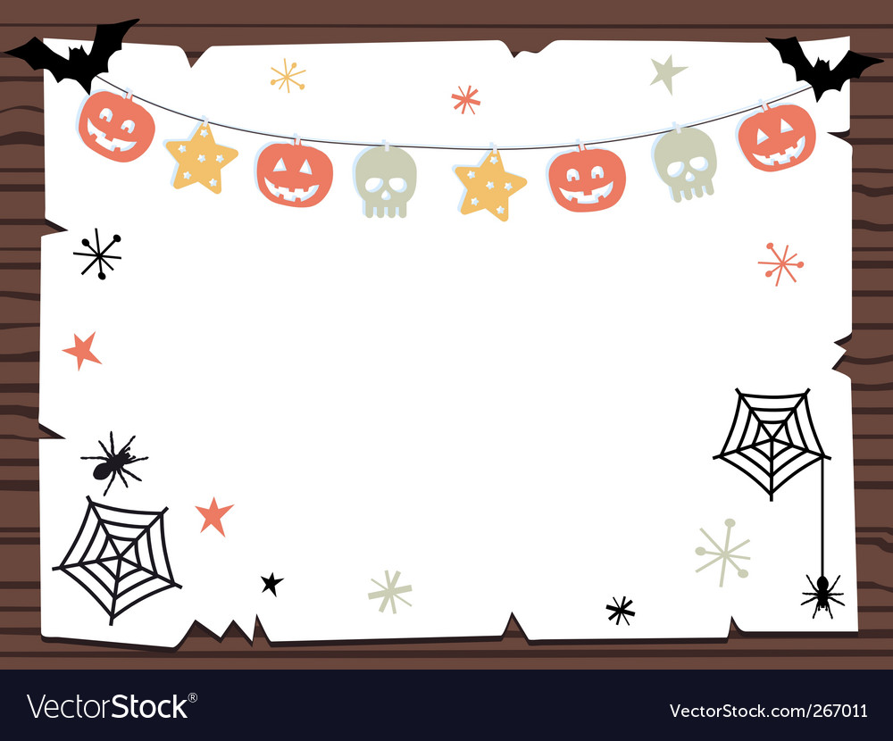 Halloween sign Royalty Free Vector Image - VectorStock
