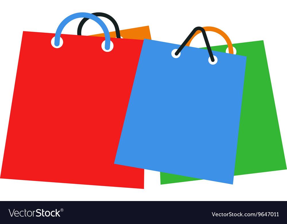 Shopping bag set vector image