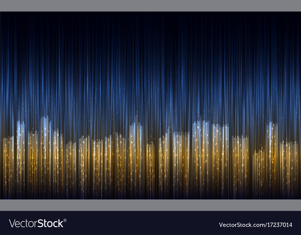 Abstract night city with lines vector image
