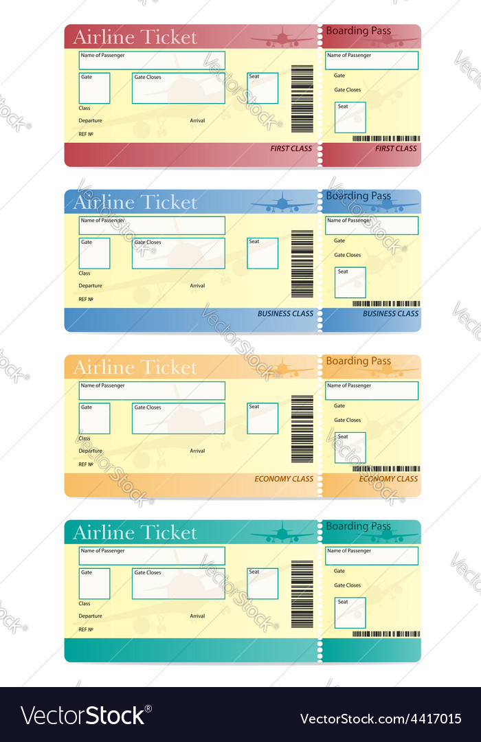 Airline ticket 05 vector image