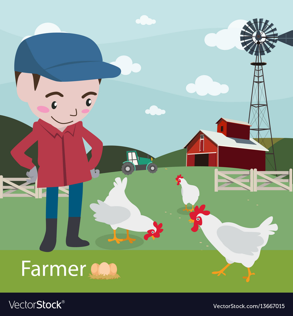 Farmers at work ariculture vector image