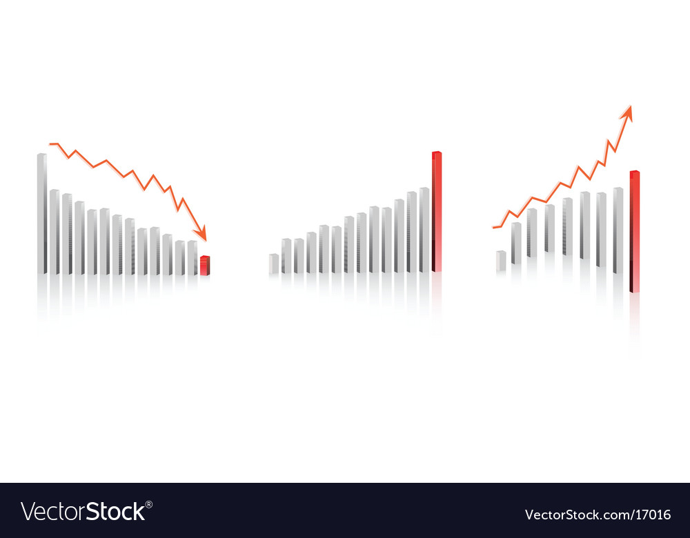 Bar graph designs vector image