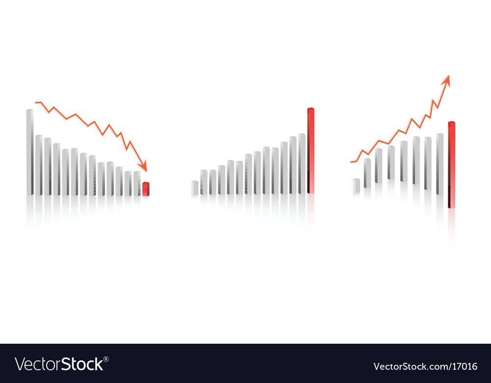 Bar graph designs vector image