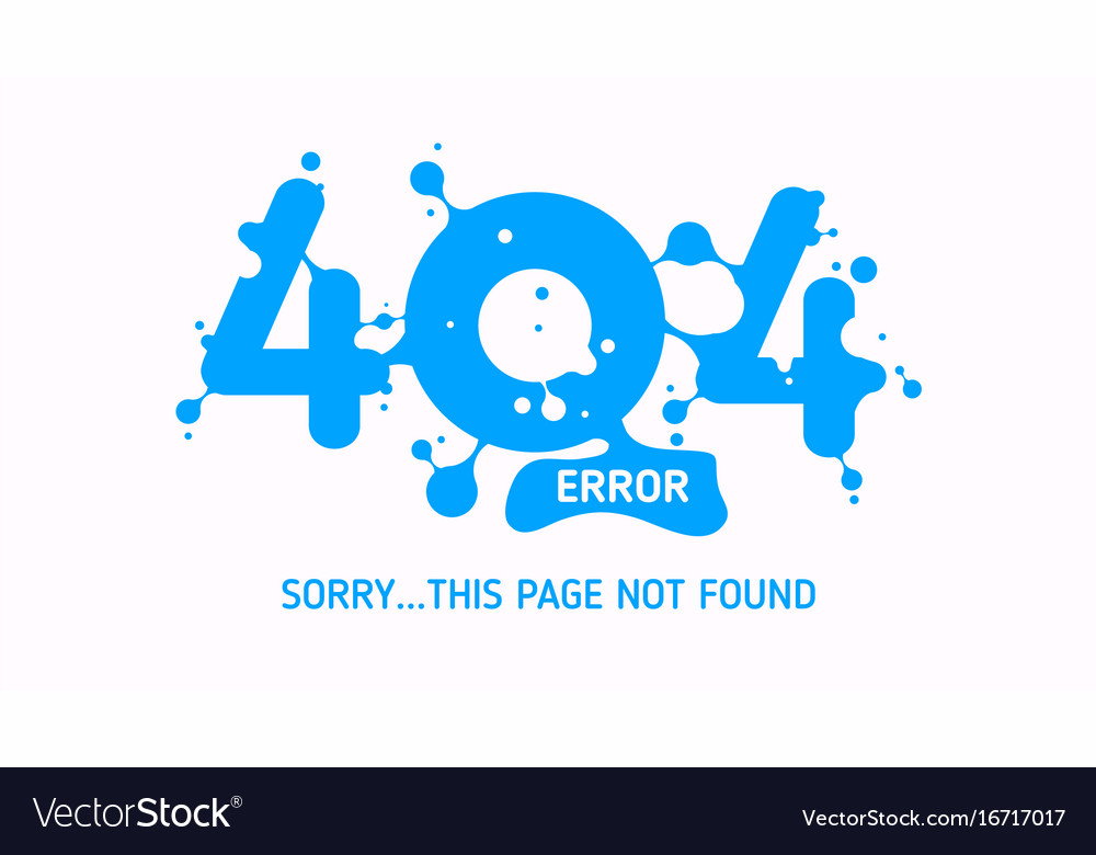 404 liquid error vector image