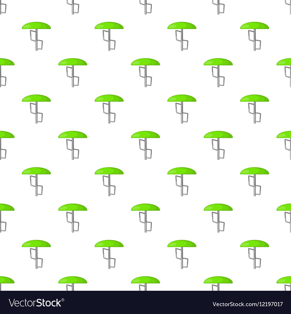 Green playground umbrella pattern cartoon style vector image