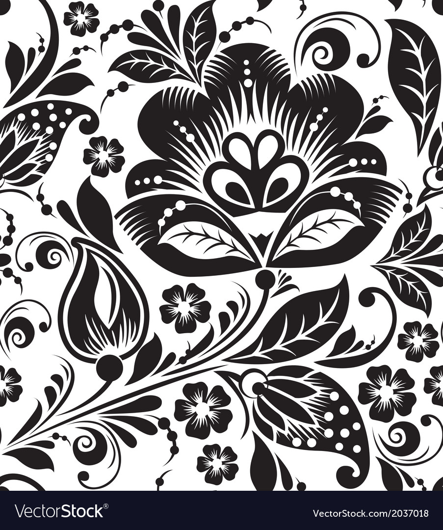 Seamless pattern with white flowers vector image