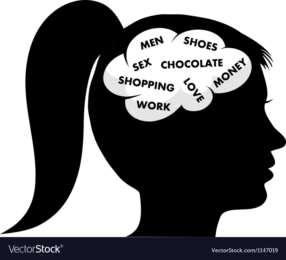 A woman s mind vector image