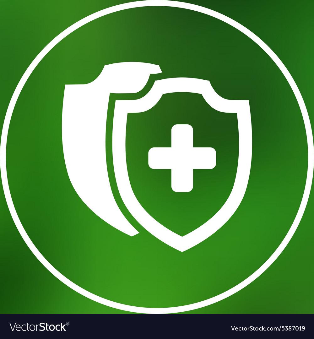 Medical Shield Icon shield flat health vector image