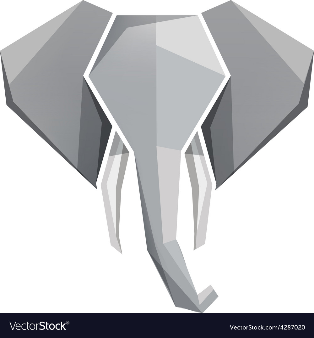 Origami elephant head icon royalty free vector image origami elephant head icon vector image jeuxipadfo Choice Image