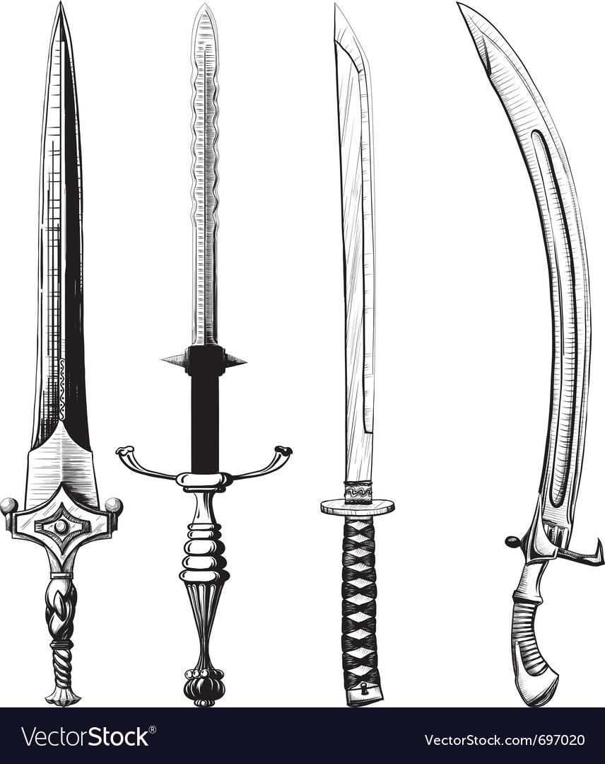 Swords vector image