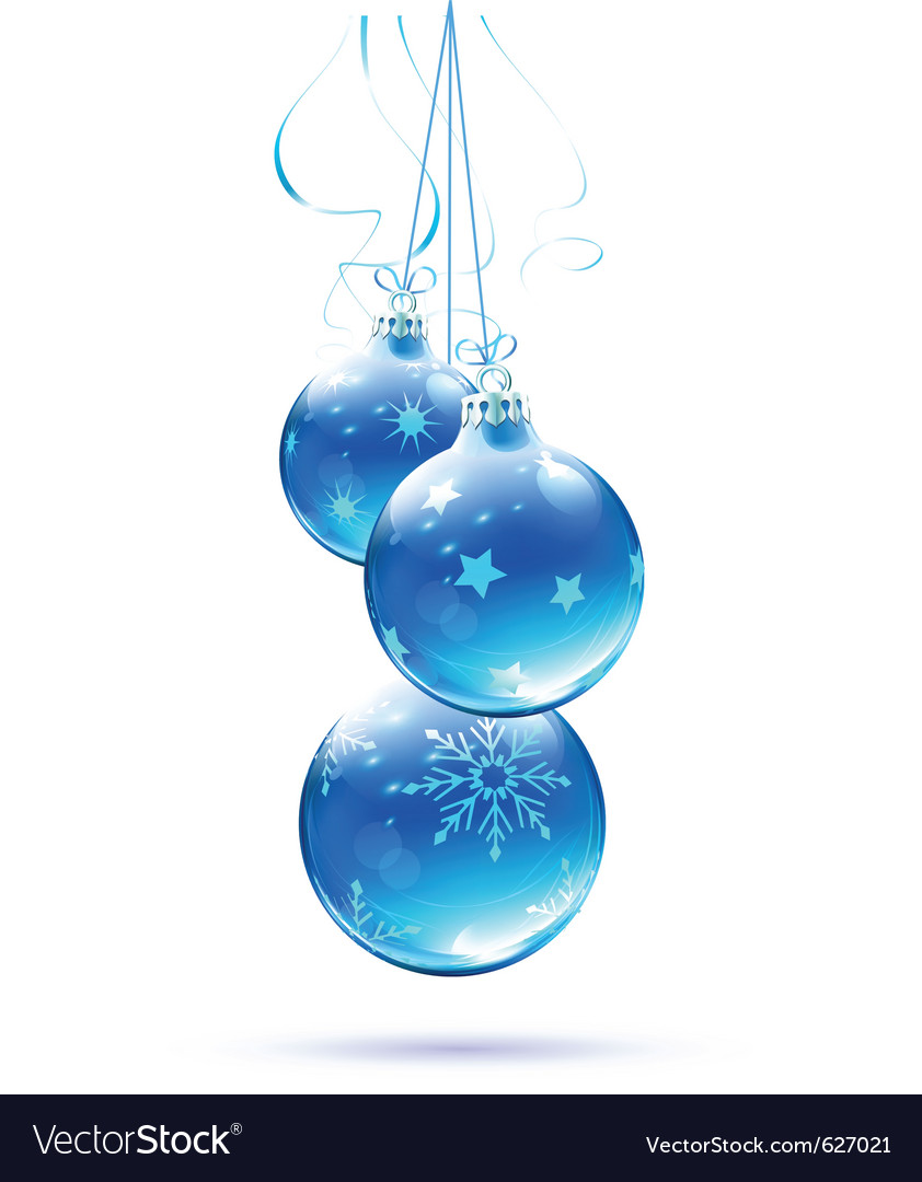 christmas decorations blue