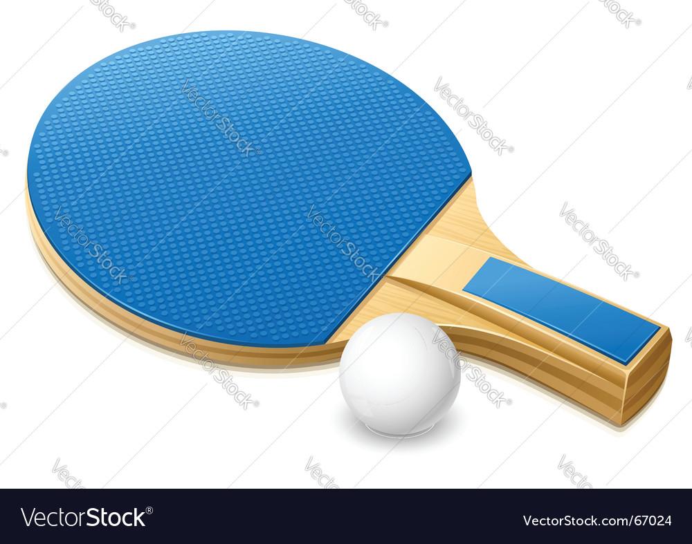 Table tennis gear vector image