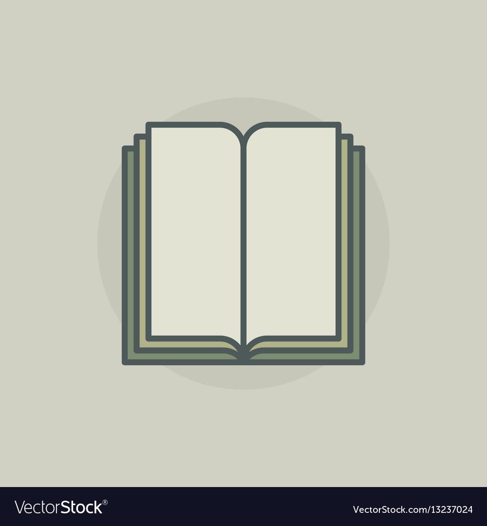 Colorful book symbol vector image