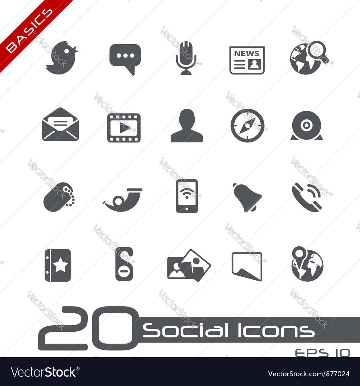 Social Media Basics Series vector image