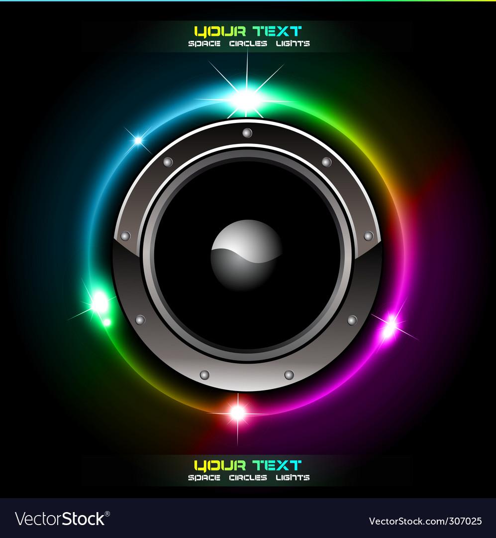 Futuristic speaker background vector image