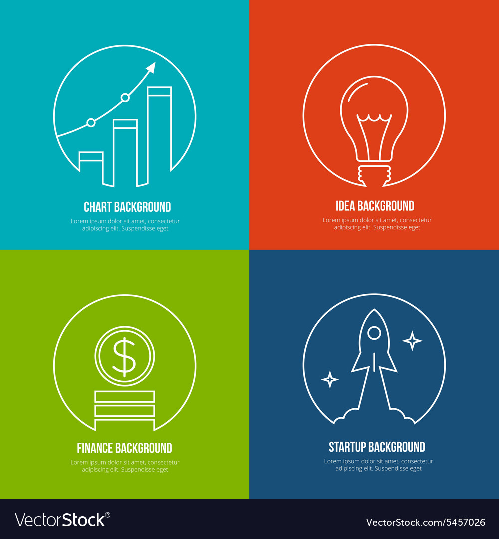 Business line art backgrounds Finance and vector image