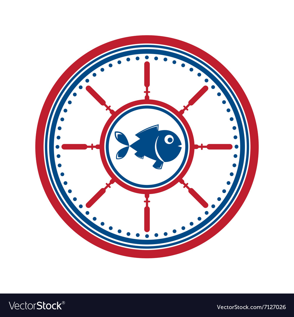 Fish symbol isolated vector image