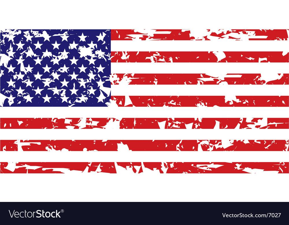 grunge american flag royalty free vector image