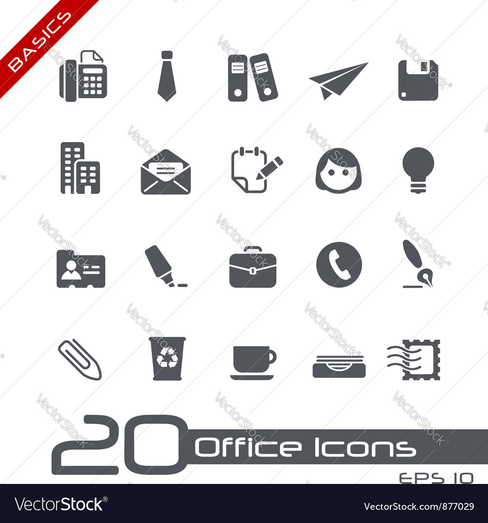 Office Business Basics Series vector image